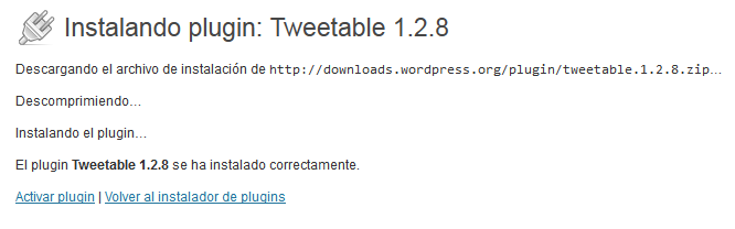 02. Tweetable - activar pluguin