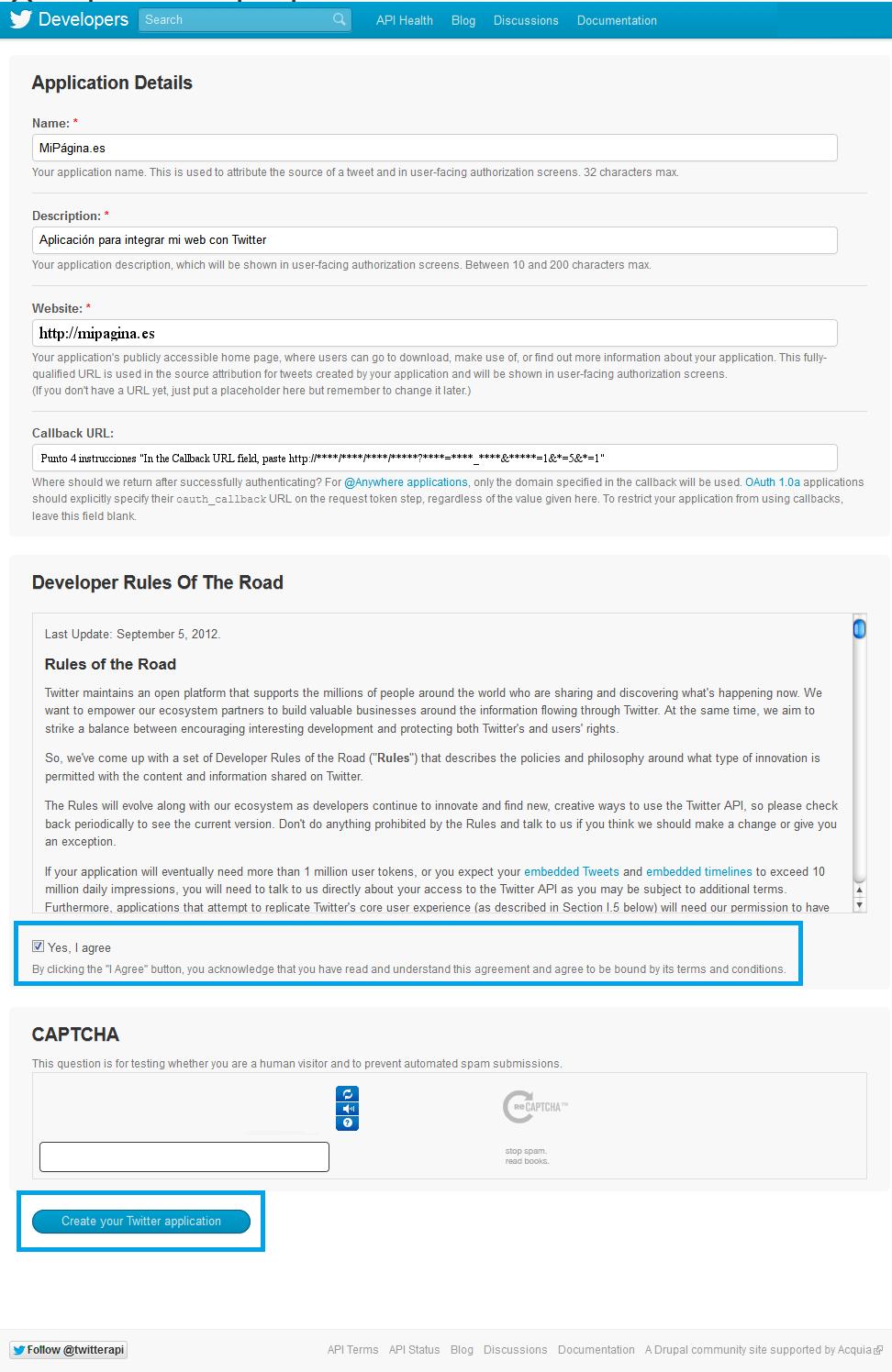 07. Tweetable - configuración aplicación
