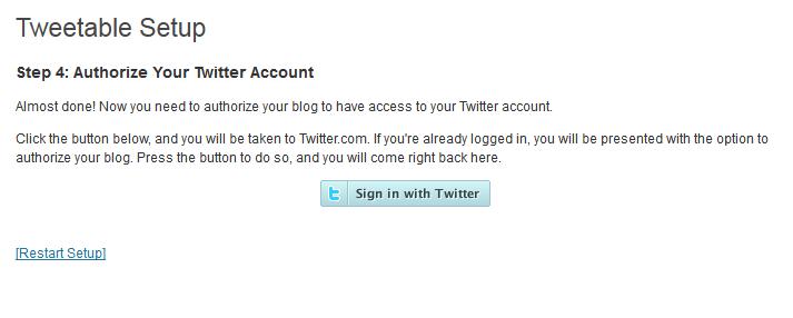 14. Tweettable - Autorizar aplicación en Twitter