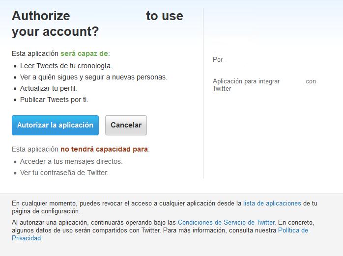 15. Tweettable - Autorizar aplicación en Twitter (si no deja volver atras y ver si hay espacios en blanco en consumer key)
