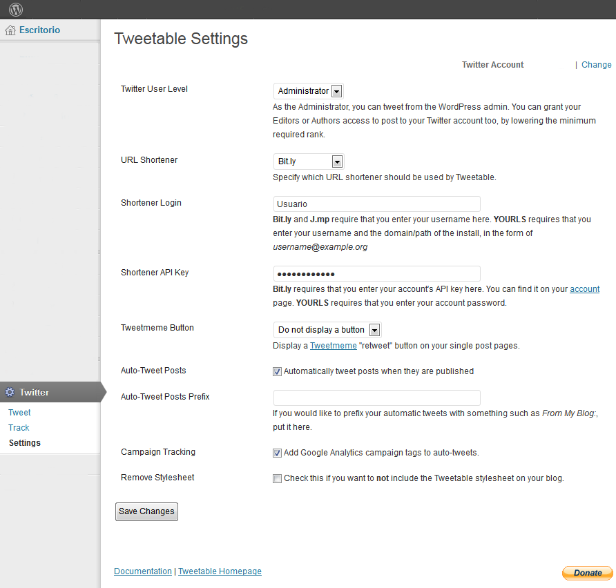 18. Tweettable - Configuramos bit.ly