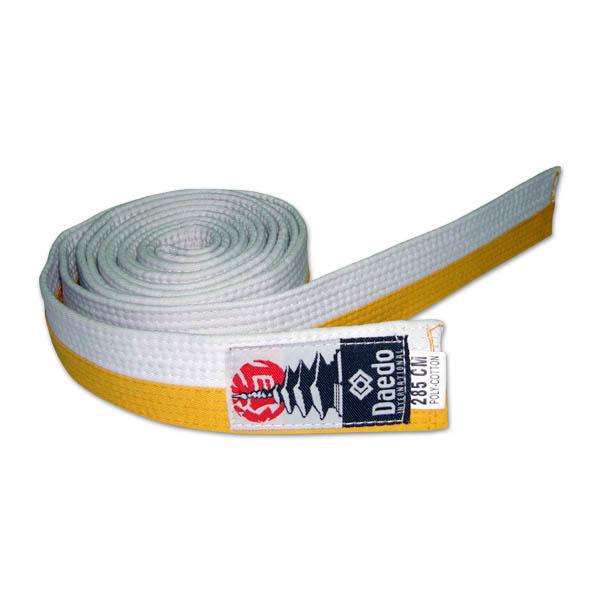 Cinturón blanco amarillo