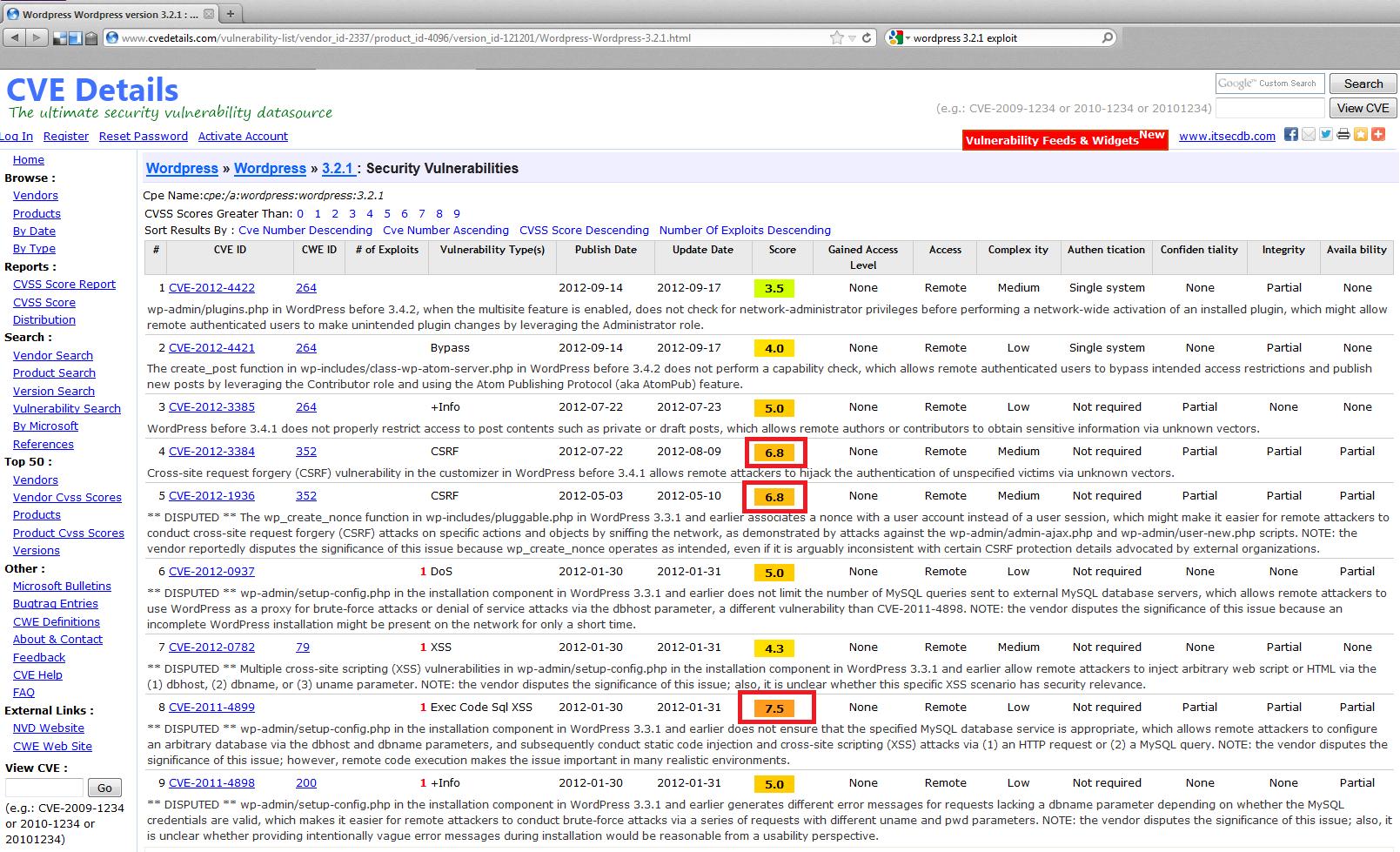 Exploit Para versión antigua de WordPress