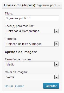 Widget RSS (Jetpack)