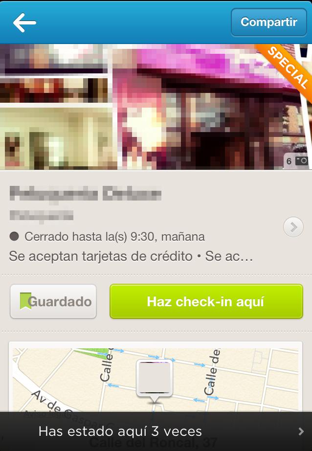 Local con promoción en Foursquare