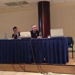 A.j. (izquierda) y Oreixa (el del Mac xD) atienen a las palabras de Dabo