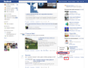 Añadir página desde perfil en Facebook