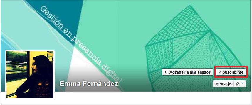 Seguir a alguien en Facebook
