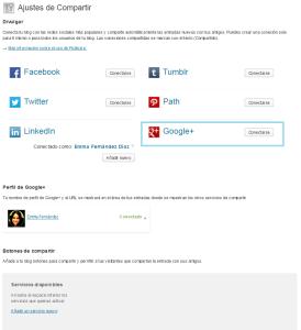 Conectarse a Google+ con JetPack