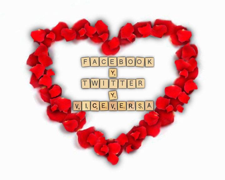 Facebook Twitter y viceversa