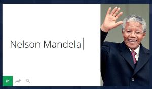 Nelson Mandela lo más buscado en 2013