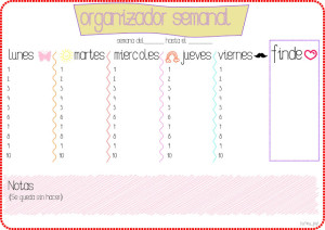 Organizador semanal hey jey! illustration