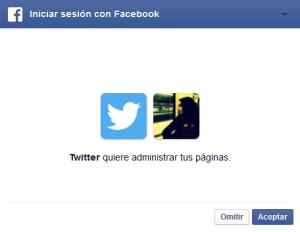 Permisos para acceder a las páginas de Facebook