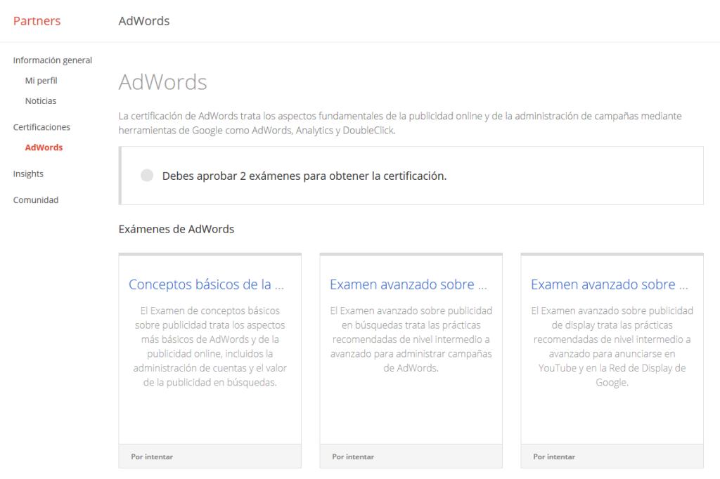 Cómo obtener la certificación en AdWords