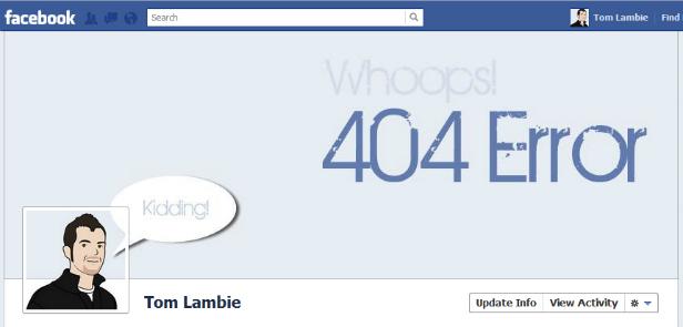 Diseño original portada Facebook - Tom Lambie