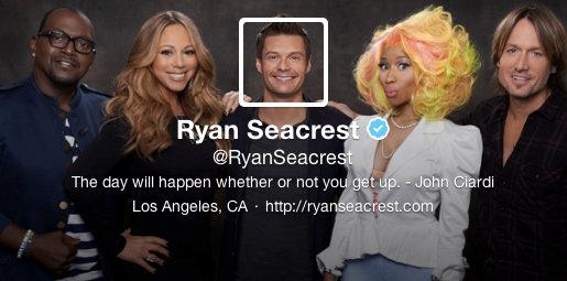 Twitter Imagen de portada y de perfil - Ryan Seacrest