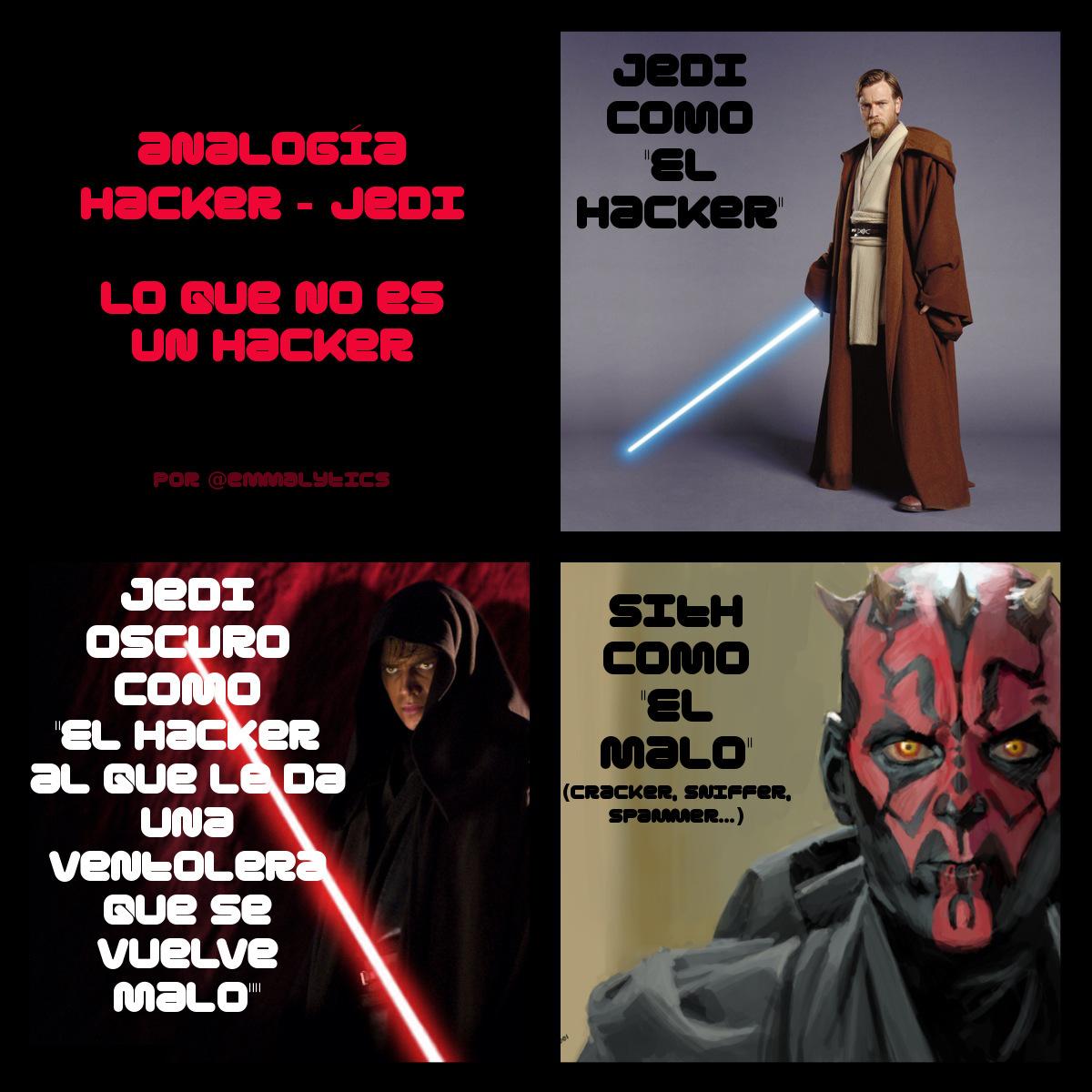 Analogía Hacker - Jedi