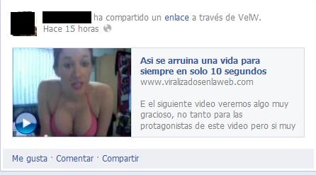 Spam en Facebook - Vida arruinada
