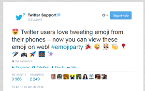 Twitter - iconos emoji